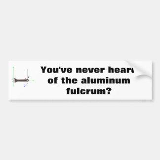 Fulcro de aluminio pegatina para auto