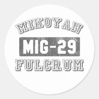 Fulcro MIG-29 Etiquetas Redondas