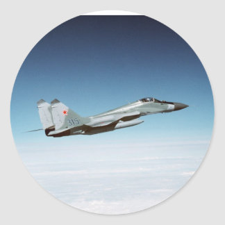 Fulcro MiG-29 Pegatinas Redondas