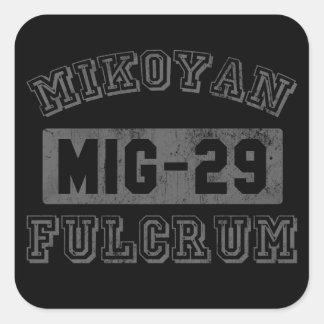 Fulcro MIG-29 Calcomanias Cuadradas