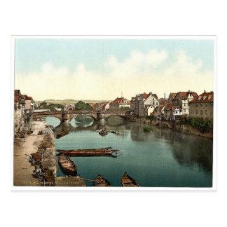 Fulda Bridge, Cassel (i.e., Kassel), Hesse-Nassau, Postcard