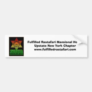 fulfilled_rastalogosmall, Rastafari satisfecho M… Pegatina De Parachoque