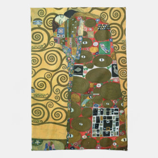 Fulfillment aka The Embrace by Gustav Klimt Kitchen Towels