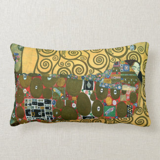 Fulfillment aka The Embrace by Gustav Klimt Lumbar Pillow