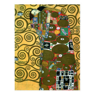 Fulfillment aka The Embrace by Gustav Klimt Postcard