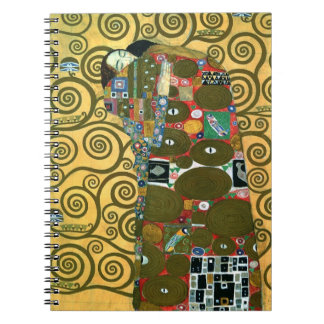 Fulfillment aka The Embrace by Gustav Klimt Spiral Notebook