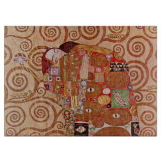 Fulfillment by Gustav Klimt, Vintage Art Nouveau Cutting Board