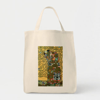 Fulfillment (The Embrace) by Gustav Klimt Grocery Tote Bag