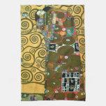 Fulfillment (The Embrace) by Gustav Klimt Kitchen Towel