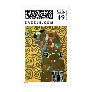 Fulfillment The Embrace by Gustav Klimt Stamps