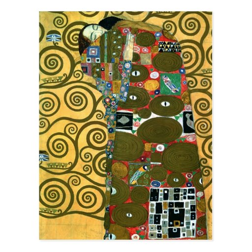 Fulfillment (The Embrace) by Gustav Klimt Postcard