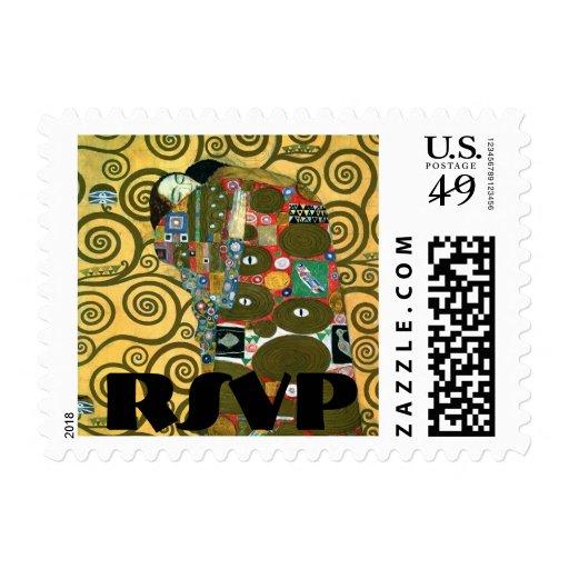Fulfillment (The Embrace) by Klimt RSVP Postage