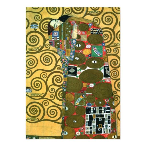 Fulfillment (The Embrace), Klimt, Vintage Wedding Invitations