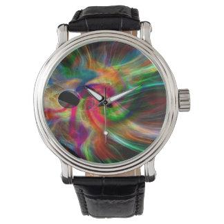 fulgor multicolor, abstractamente relojes de pulsera