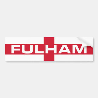 Fulham England Flag Bumper Sticker