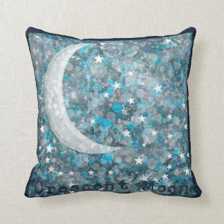 Full and crescent moon galaxy pillow