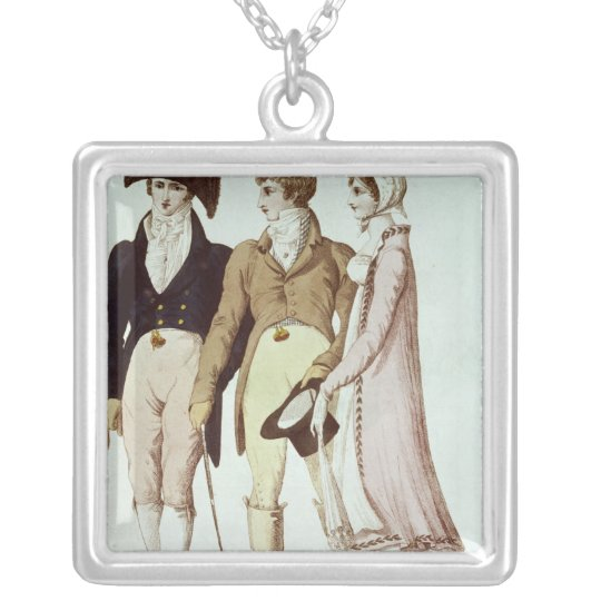 Full and Half Full Dresses for April Silver Plated Necklace