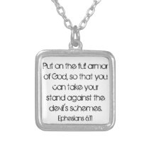 full armor of God bible verse Ephesians necklace