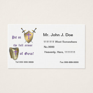 Full Armor of God Business Card