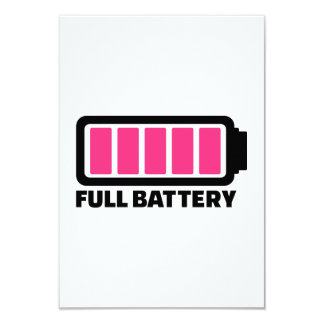 Full battery 3.5x5 paper invitation card