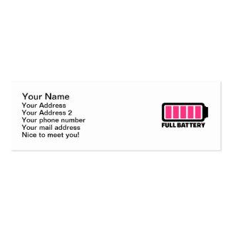 Full battery mini business card