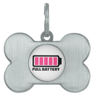 Full battery pet name tags