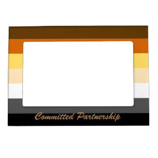 Full Bear Pride Flag Committed Partnership Frame