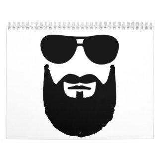 Full beard sunglasses wall calendars