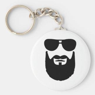 Full beard sunglasses keychain