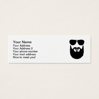 Full beard sunglasses mini business card