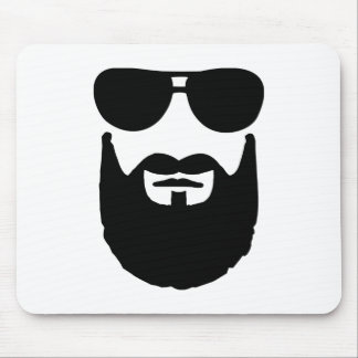 Full beard sunglasses mouse pad