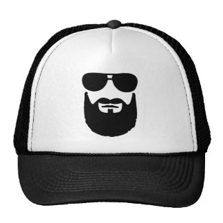 Full beard sunglasses trucker hat