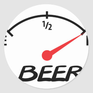 full beer level icon classic round sticker