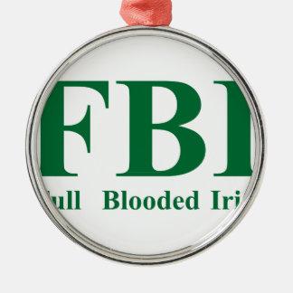 Full Blooded Irish Metal Ornament