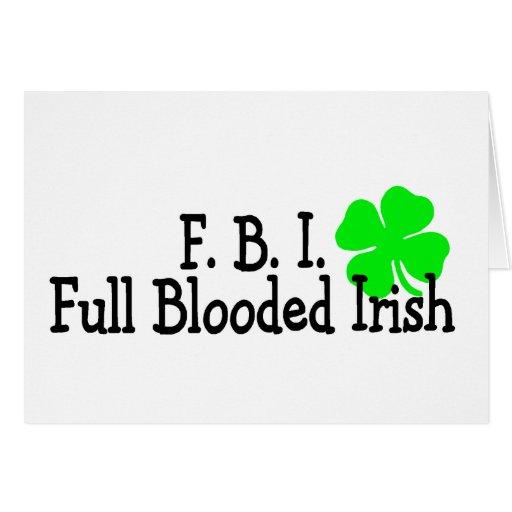 Full Blooded Irish St Patricks Day Cards