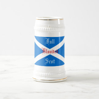 FULL BLOODED SCOT BEER STEIN