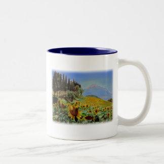 'Full Bloom' Two-Tone Coffee Mug