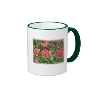 Full Bloom Ringer Coffee Mug