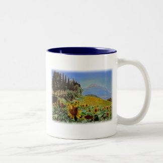 'Full Bloom' Two-Tone Coffee Mug