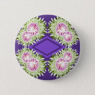 Full Blossom Pattern Pinback Button