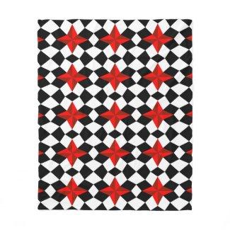 Full Blown Red Glass Star Fleece Blanket