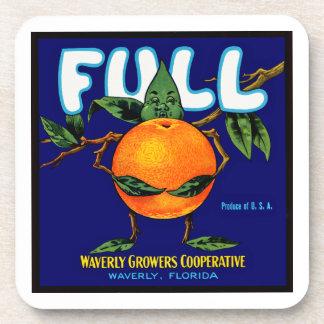 Full Brand Oranges Label Coaster