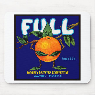 Full Brand Oranges Label Mouse Pad