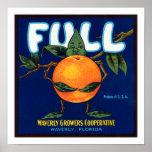 Full Brand Oranges Label Poster