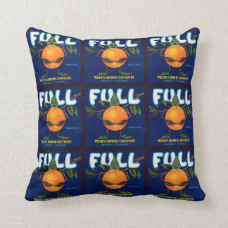 Full Brand Oranges Label Throw Pillow