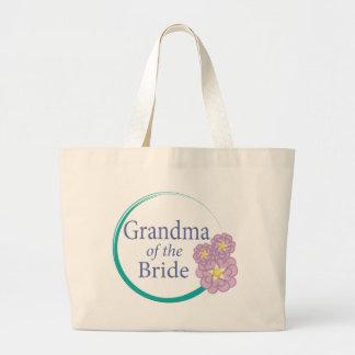 Full Circle Floral Grandma of the Bride Large Tote Bag