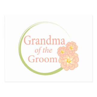 Full Circle Floral Grandma of the Groom Postcard