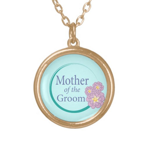 Full Circle Floral Mother of the Groom Necklace