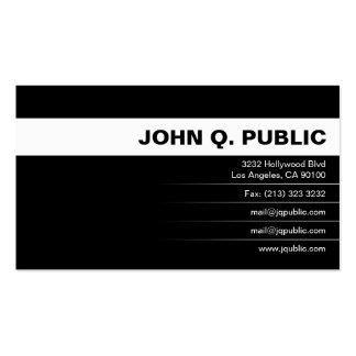 Full Color Business Card (plain black)