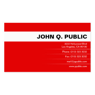 Full Color Business Card (red)